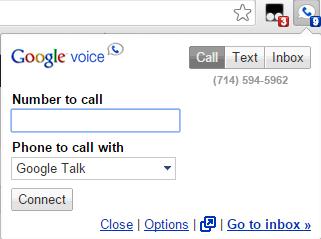 google voice chrome extension